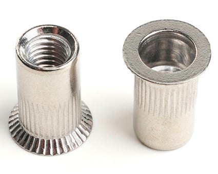 Stainless Steel Countersunk Knurled Insert Nut